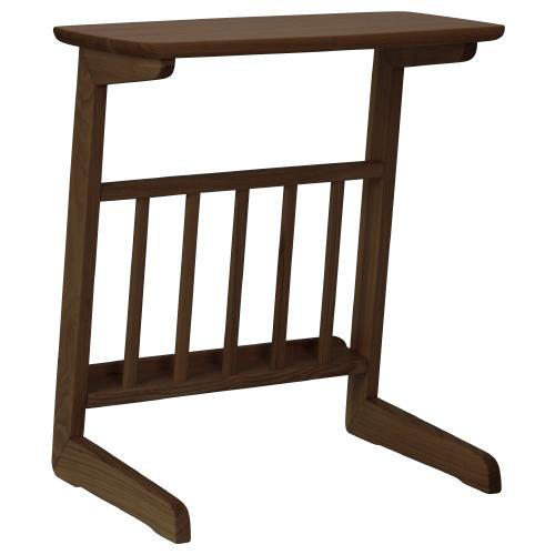アルマ サイドテーブル W550×D360×H590mm ダークブラウン ミニテーブル ソファーサイド サイドラック 木目 大川家具 オフィス家具