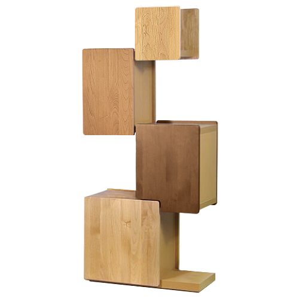オスロ タワーシェルフ W600×D300×H1370mm グラデーション 収納棚 ディスプレイラック 木目 大川家具 オフィス家具