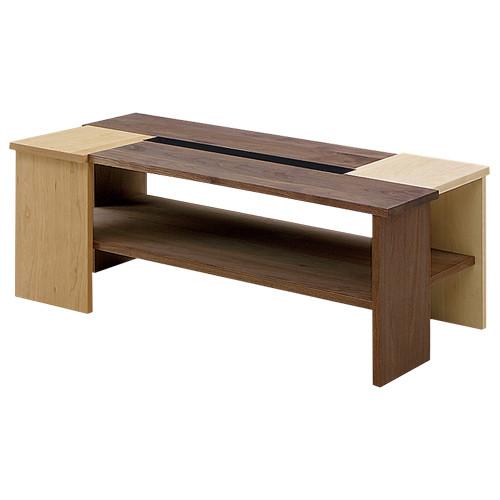 ディープ センターテーブル W1050×D550×H400mm ウォールナット ローテーブル 木目 大川家具 オフィス家具
