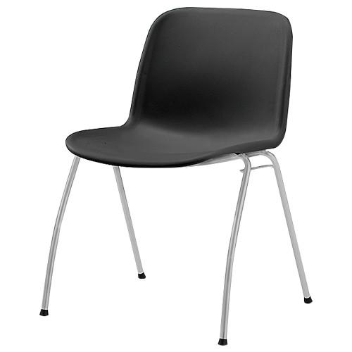 IRIS エルチェア W515×D560×H735mm オフィスチェア ブラック 会議椅子 ミーティングチェア グループチェア オフィス家具 アウトレット