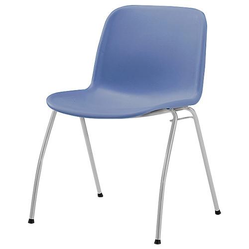 IRIS エルチェア W515×D560×H735mm オフィスチェア ブルー 会議椅子 ミーティングチェア グループチェア オフィス家具 アウトレット