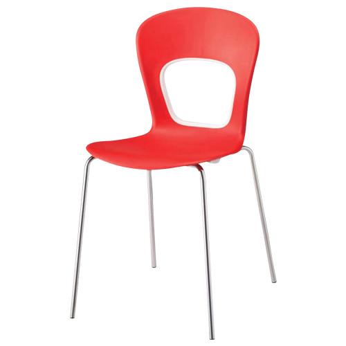 ブログチェア Blog W440×D500×H815mm レッド ミーティングチェア スタッキングチェア 会議椅子 会議チェア アウトレット オフィス家具