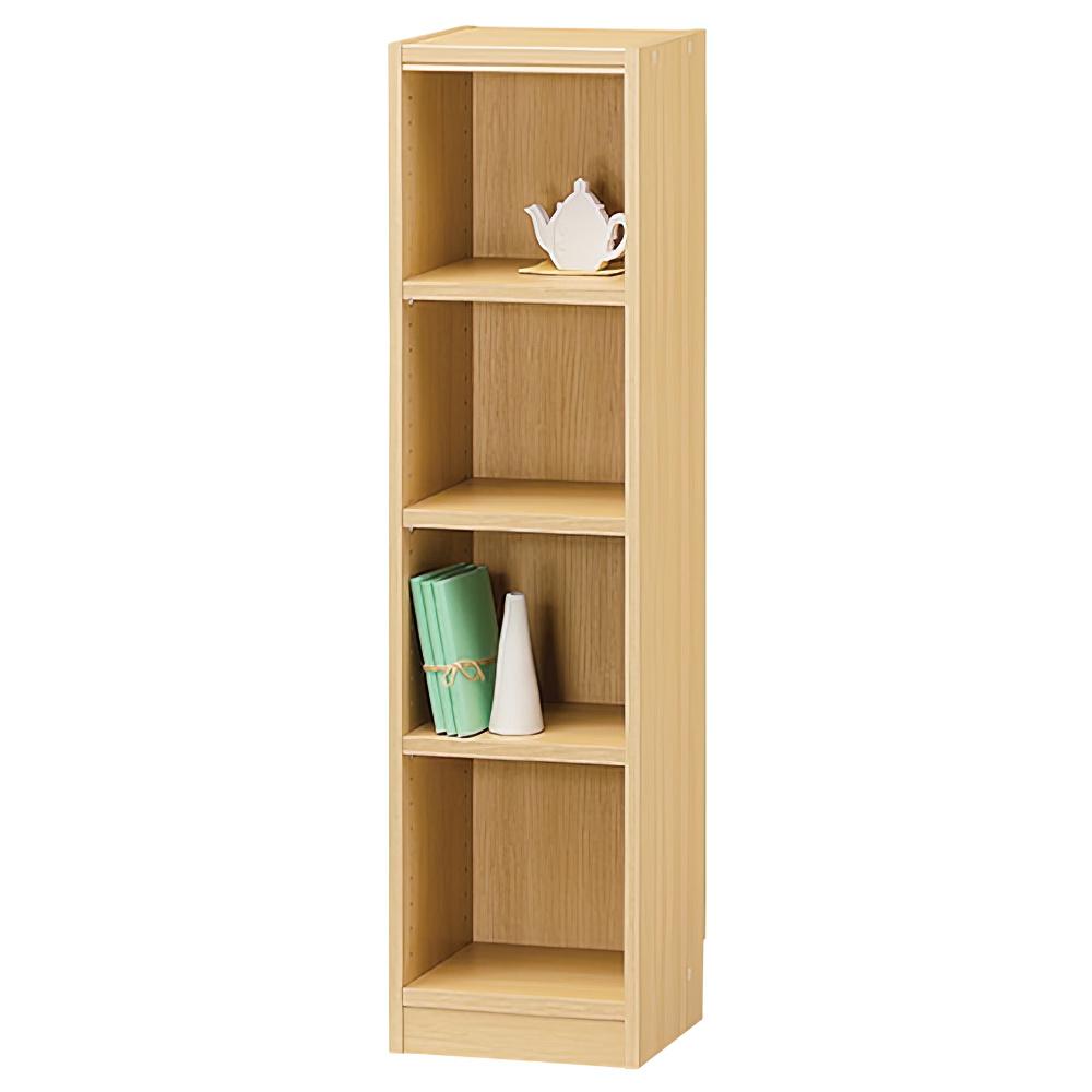 木製1列4段フリーラック TNLシリーズ W310×D290×H1200mm 書棚 本棚 木製収納棚 ナチュラル オープンラック オフィス家具