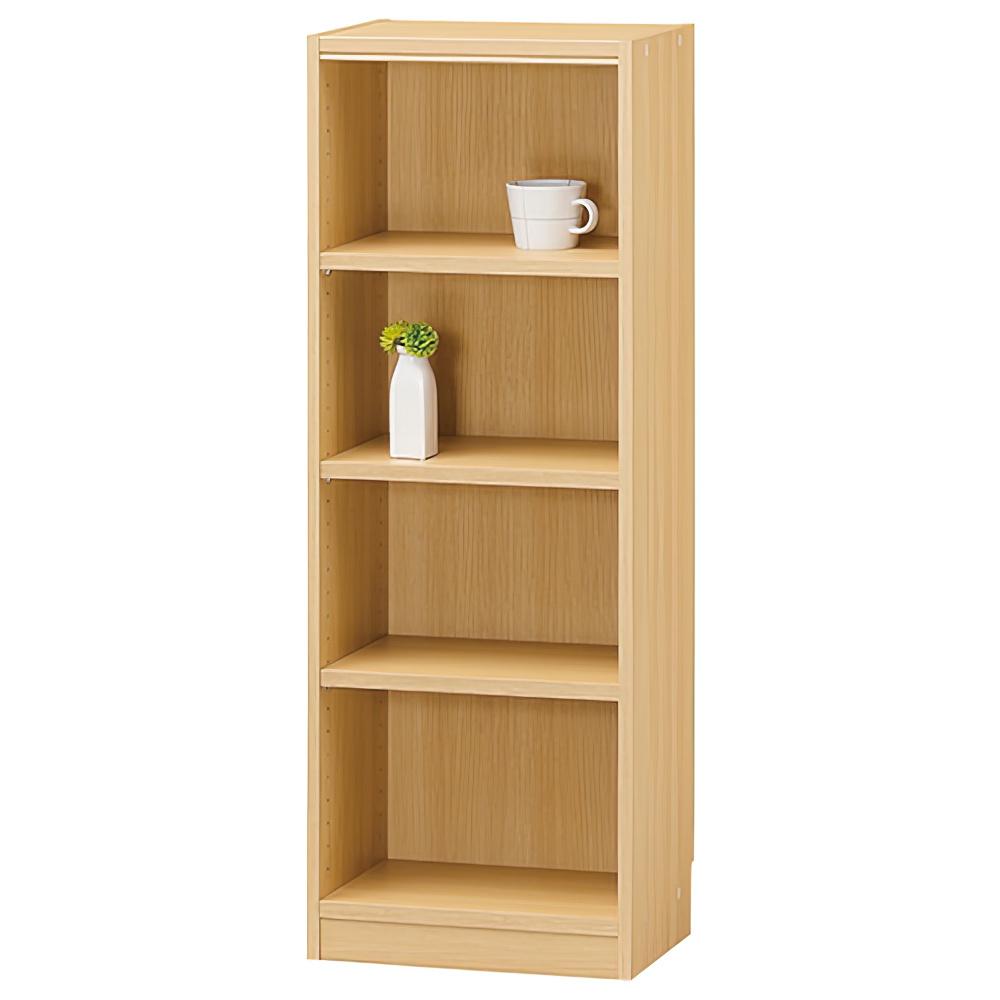 木製1列4段フリーラック TNLシリーズ W440×D290×H1200mm 書棚 本棚 木製収納棚 ナチュラル オープンラック オフィス家具