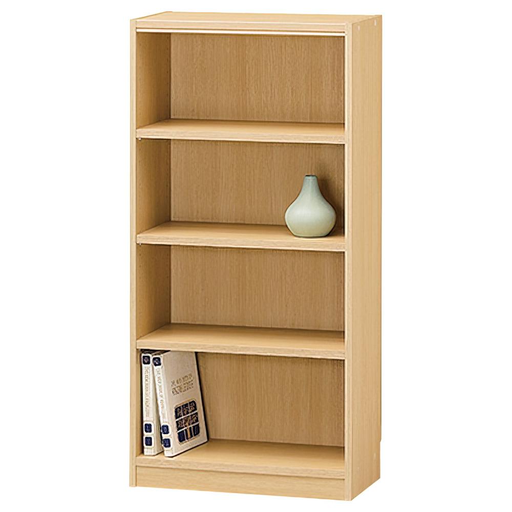 木製1列4段フリーラック TNLシリーズ W590×D290×H1200mm 書棚 本棚 木製収納棚 ナチュラル オープンラック オフィス家具