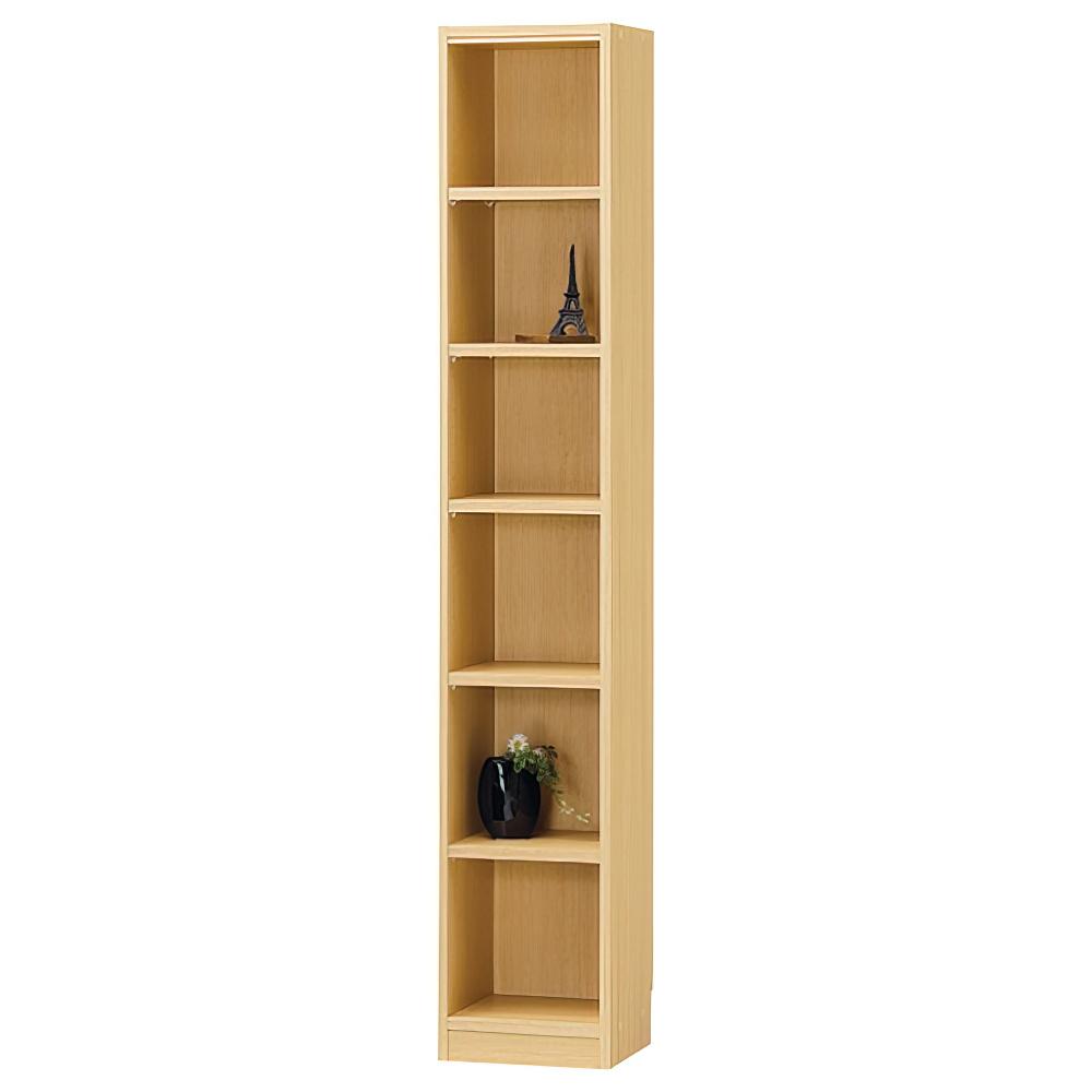 木製1列6段フリーラック TNLシリーズ W310×D290×H1800mm 書棚 本棚 木製収納棚 ナチュラル オープンラック オフィス家具