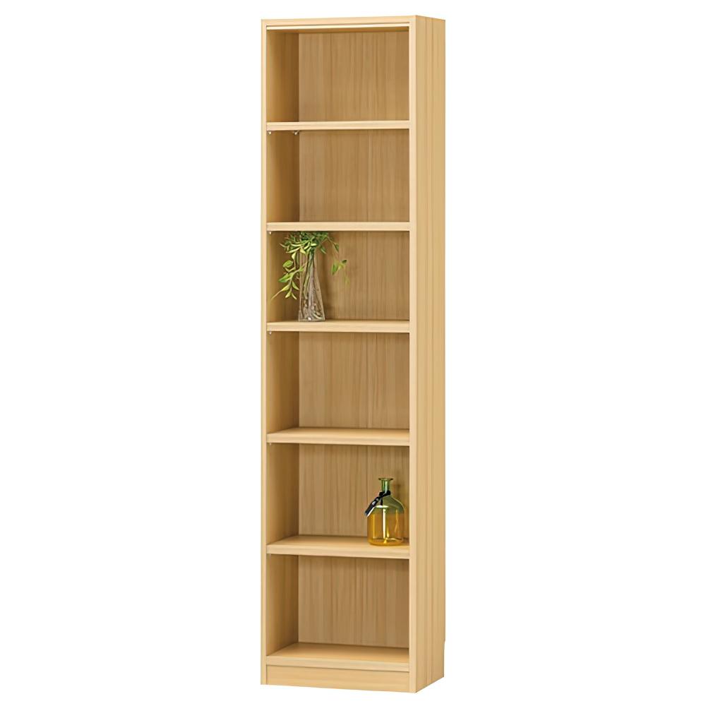 木製1列6段フリーラック TNLシリーズ W440×D290×H1800mm 書棚 本棚 木製収納棚 ナチュラル オープンラック オフィス家具