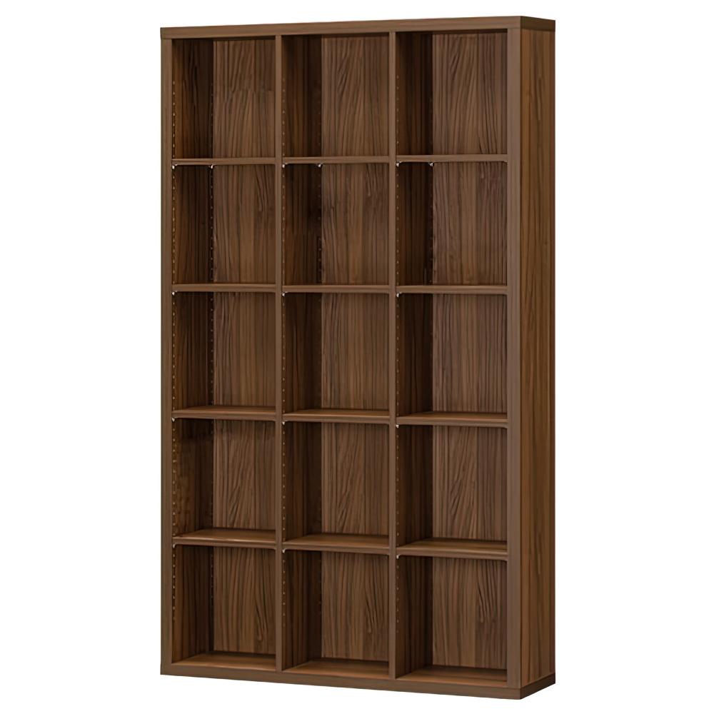 木製3列5段フリーラック SEPシリーズ W1100×D283×H1854mm 書棚 本棚 木製収納棚 ダーク オープンラック オフィス家具